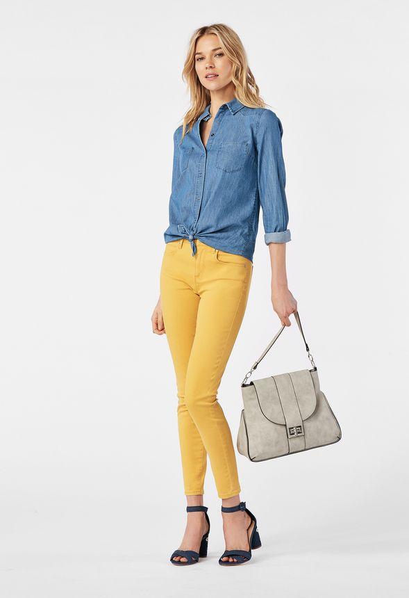 b1e3fe9f2f Kasia Heeled Sandal in denim daisy - Get great deals at JustFab