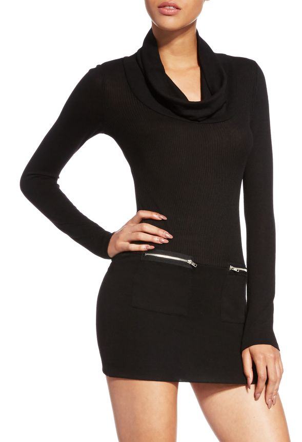 Adrienne Sweater Dress In Black Get Great Deals At Justfab