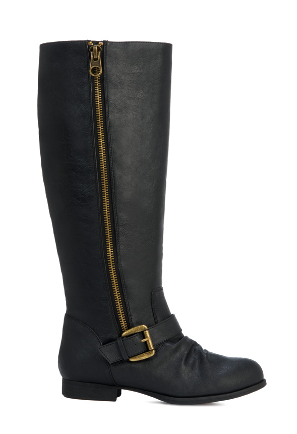 Rampage Biller Womens Suede Zip Buckle Knee High Tall Fashion Boots Pick Size