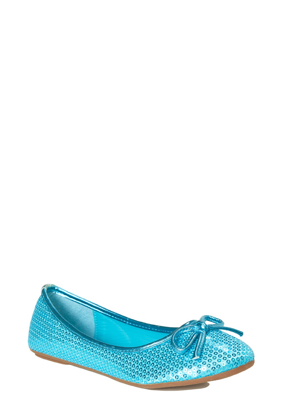 d88145408610 Fabkids Sequin Flat in Blue - Get great deals at JustFab