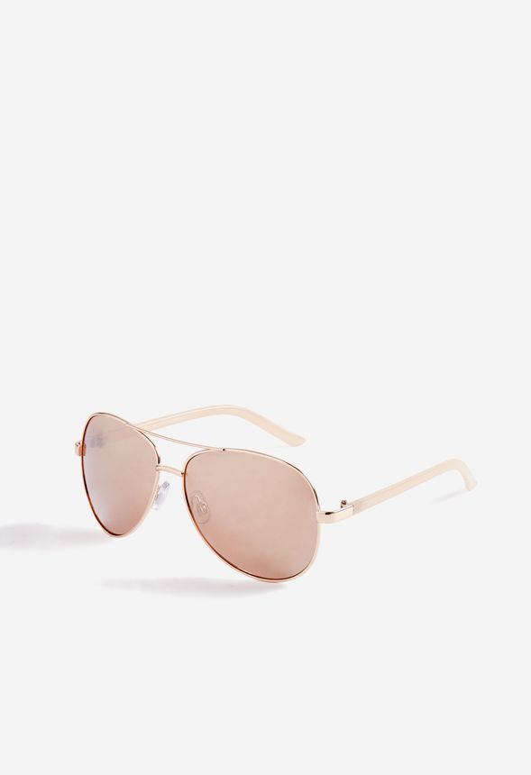 6e4d55f8e1e Cape Aviator Sunglasses Accessories in Rose Gold - Get great deals at  JustFab