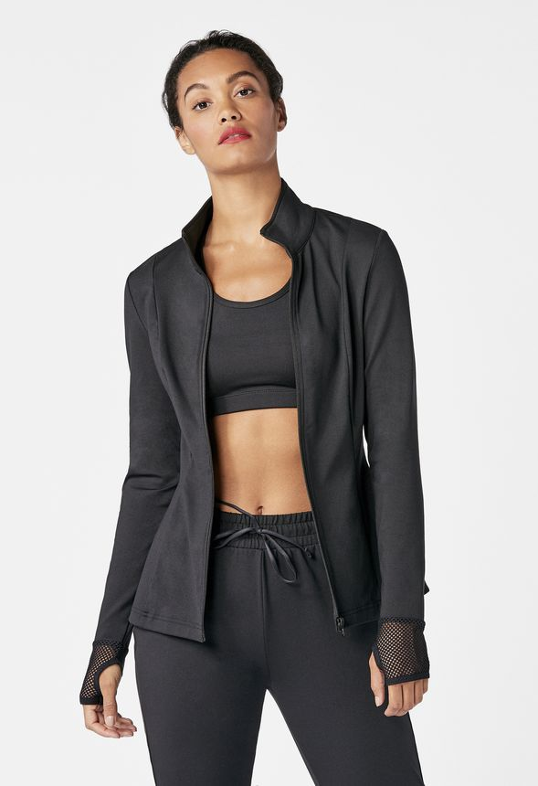 3256361b3 Active Zip Front Jacket in Black - Get great deals at JustFab