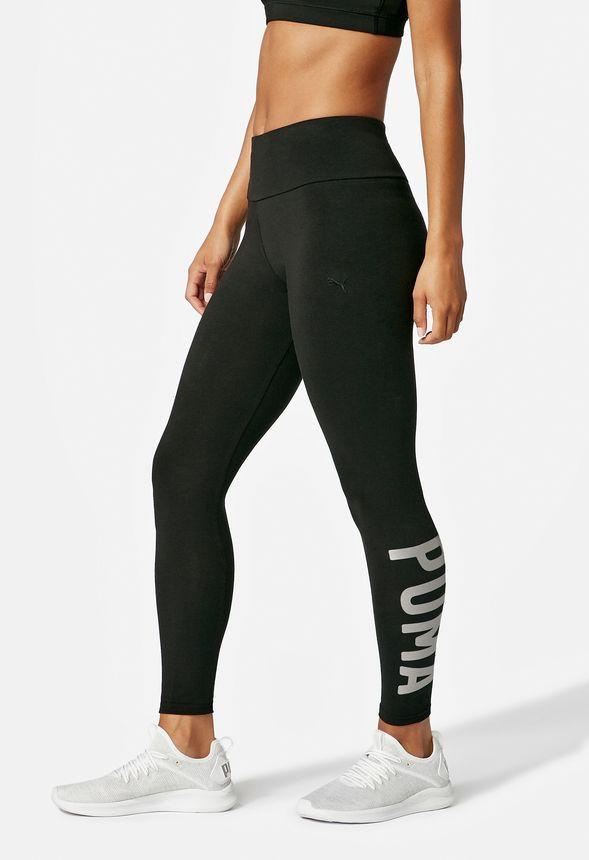 8812e3feedb5 Puma Logo Active Leggings in Black - Get great deals at JustFab