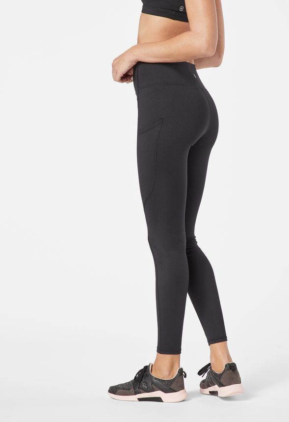 b0aa39dca26a1 High Waisted Pocket Leggings in Black - Get great deals at JustFab
