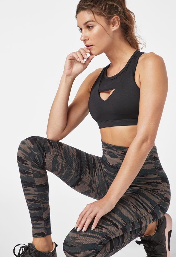 d76d9d298 High Waisted Camo Seamless Leggings in Camo - Get great deals at JustFab