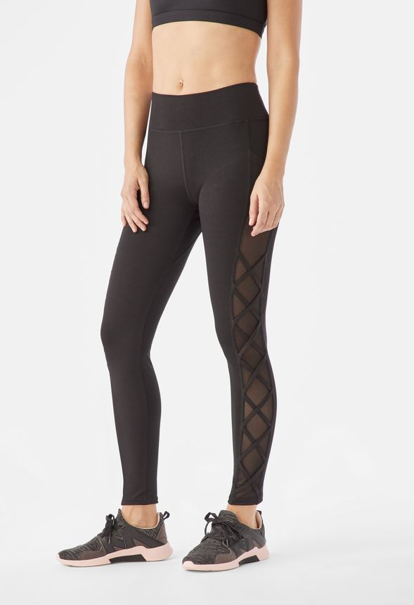 3adb4763223531 Mesh Lattice Active Leggings in Black - Get great deals at JustFab