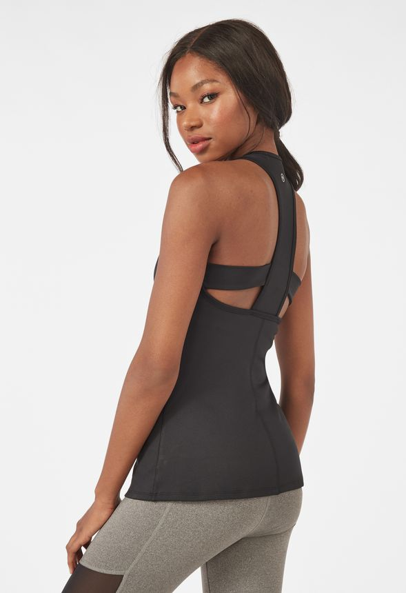261124744310 T-Back Active Tank in Black - Get great deals at JustFab