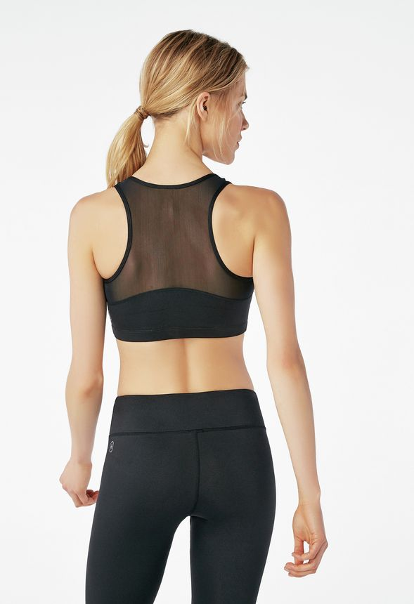 4427e631eb Mesh Back Sports Bra in Black - Get great deals at JustFab