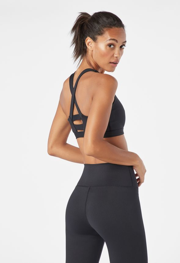 cd6b9ab54349 X-Strap Sports Bra in Black - Get great deals at JustFab