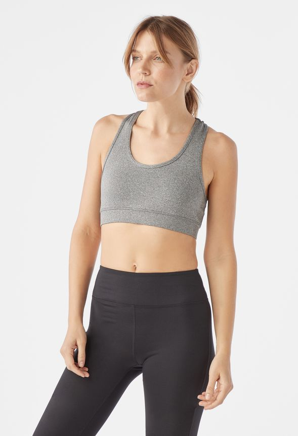 88a35a5bdc281 Racerback Sports Bra in Gray - Get great deals at JustFab