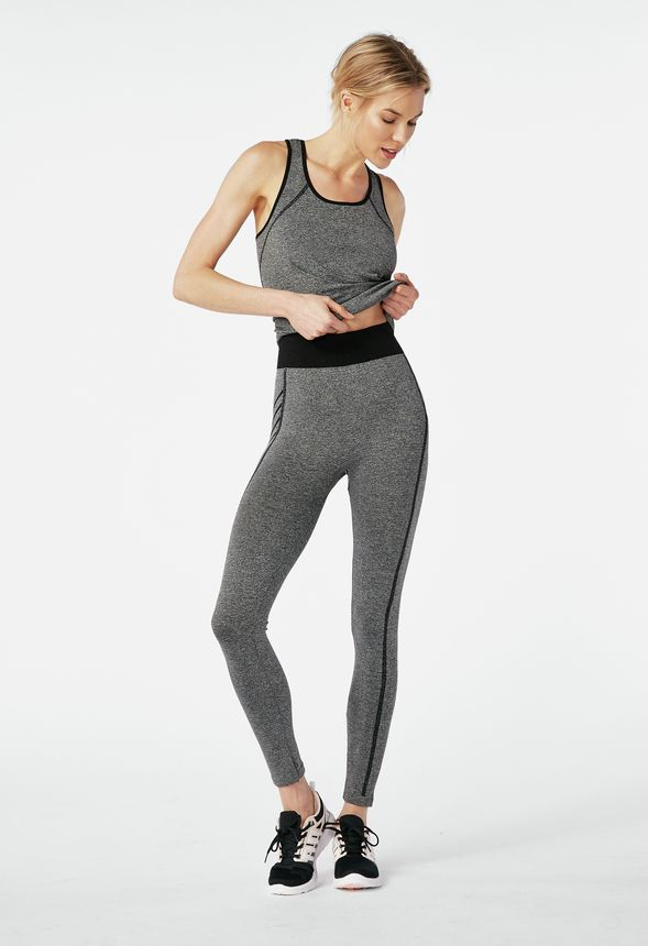 1766be8fa41a Tank Top   Legging Set in grey  black - Get great deals at JustFab