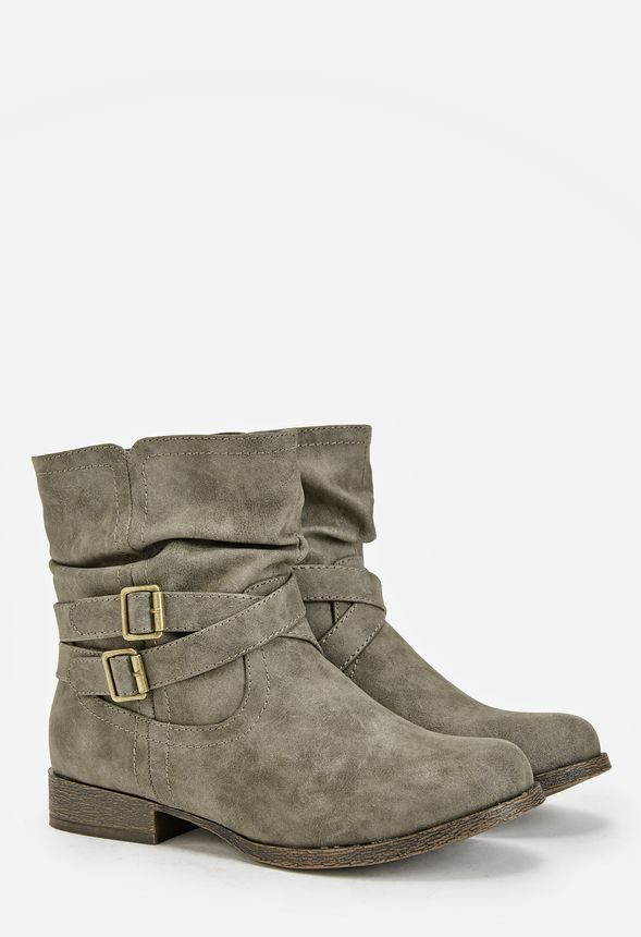 newest 2f94a 42155 Lidia Flat Boot in Gray - Get great deals at JustFab