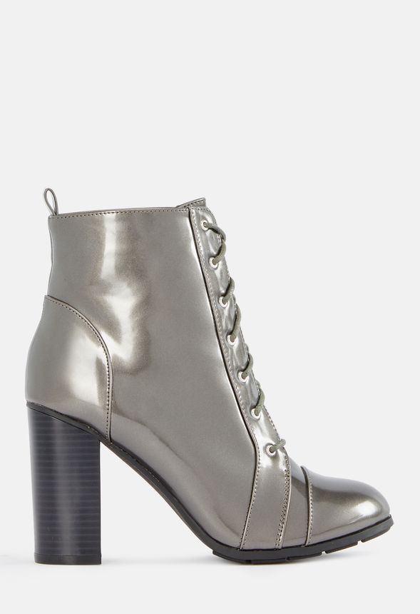 d31b23ac3f Magnolia Lace-Up Bootie in Metallic - Get great deals at JustFab