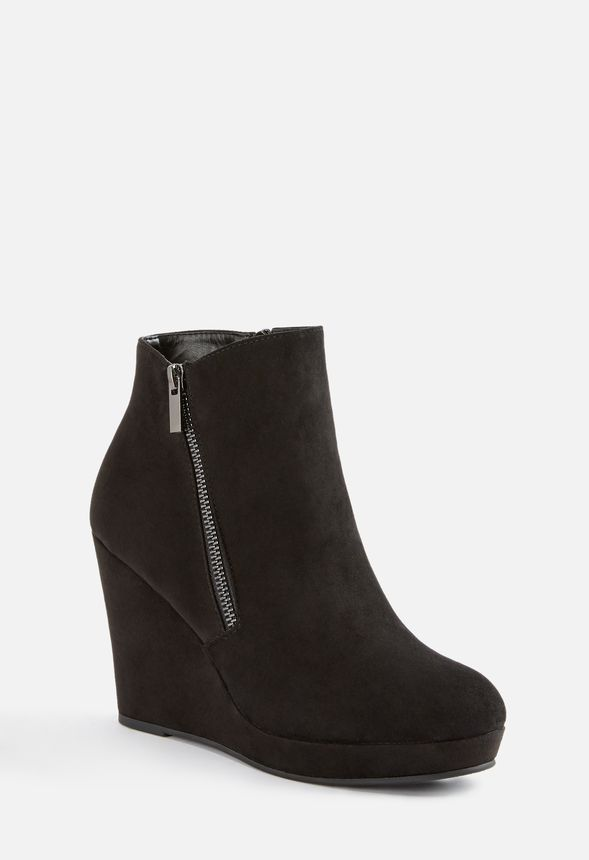 68daae71944 Jessy Zip-Up Wedge Bootie in Black - Get great deals at JustFab