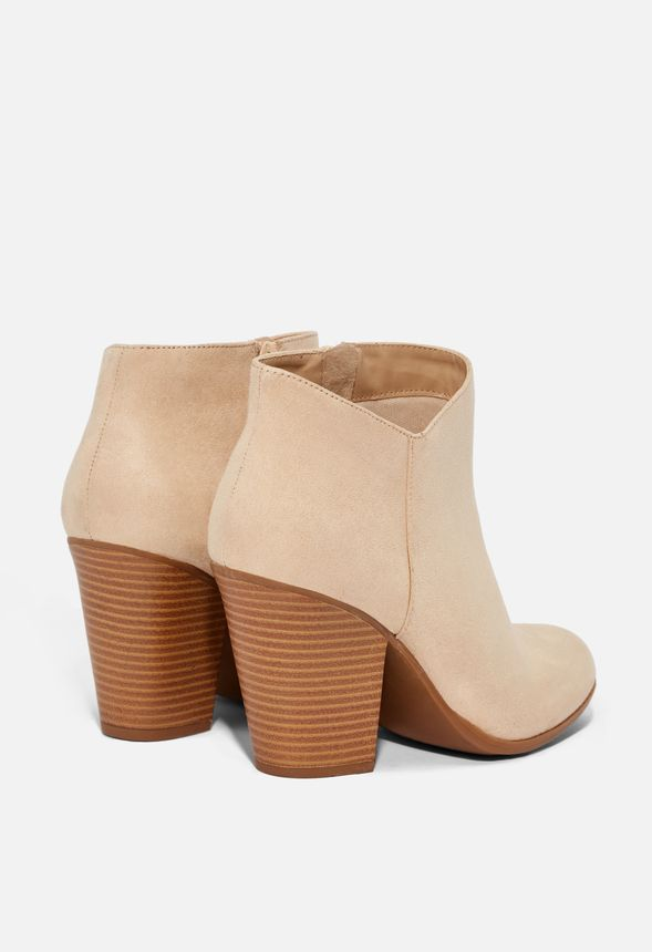 c147a7a29b8 Western Wilde Block Heel Bootie in Sand - Get great deals at JustFab