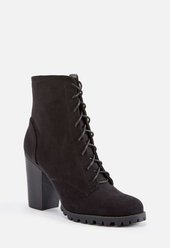 48fec451a1 Lane Lace-Up Boot in Black - Get great deals at JustFab
