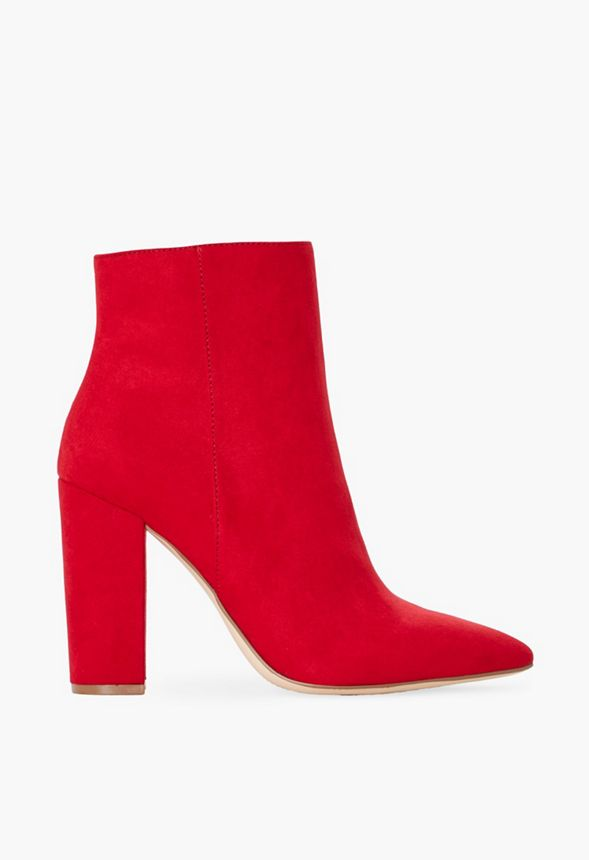 8f4a36d84c1 Rosamund Block Heel Bootie in Red - Get great deals at JustFab