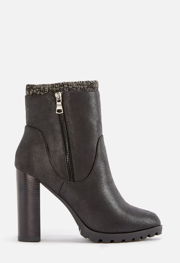 a2b2724ed1 Carlina Sweater Cuff Bootie in Black - Get great deals at JustFab