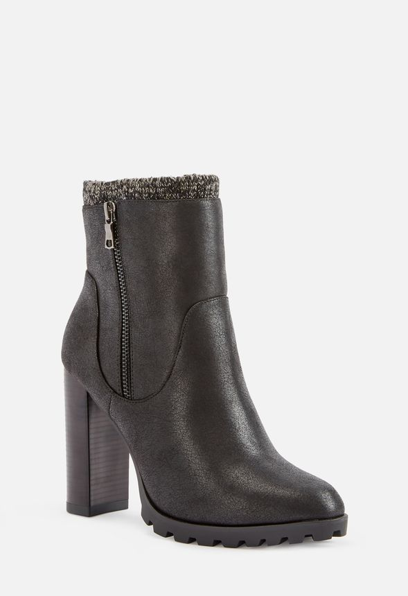 5b2701d325 Carlina Sweater Cuff Bootie in Black - Get great deals at JustFab