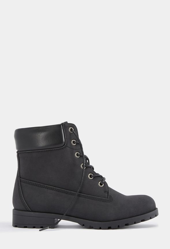 f61d3c4aa7a Nicola Rugged Boot in Black - Get great deals at JustFab