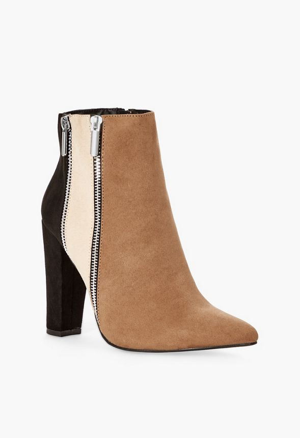 c4d331390a11 Remi Colorblock Bootie in black natural - Get great deals at JustFab