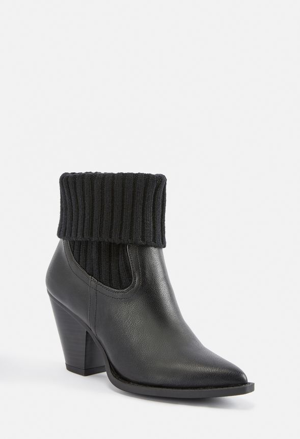 02f4c081e1 Lois Sweater Cuff Bootie in Black - Get great deals at JustFab