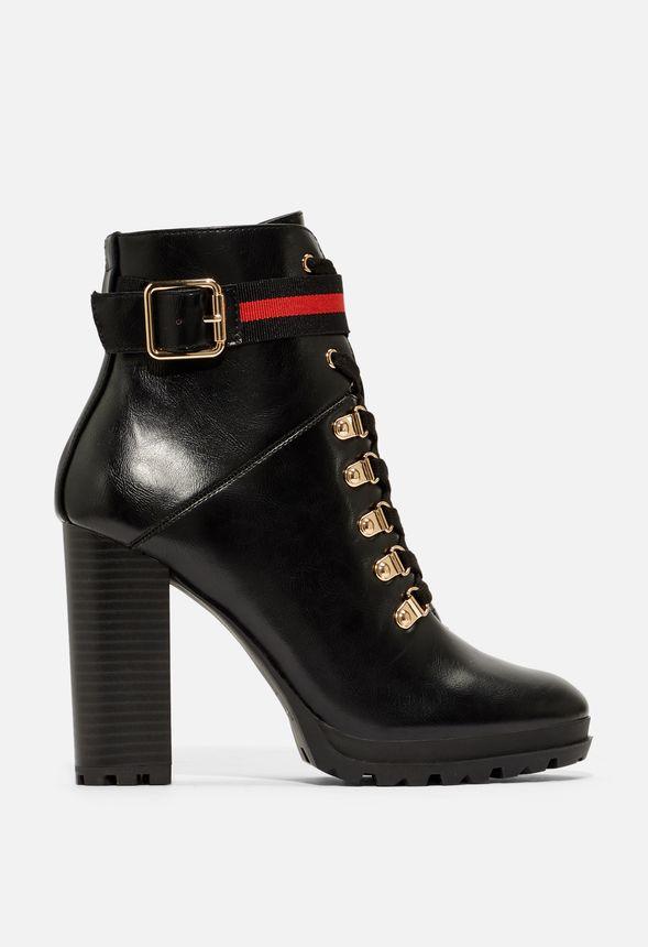 9e7debcf55 Ribonea Lace-Up Platform Bootie in Black - Get great deals at JustFab