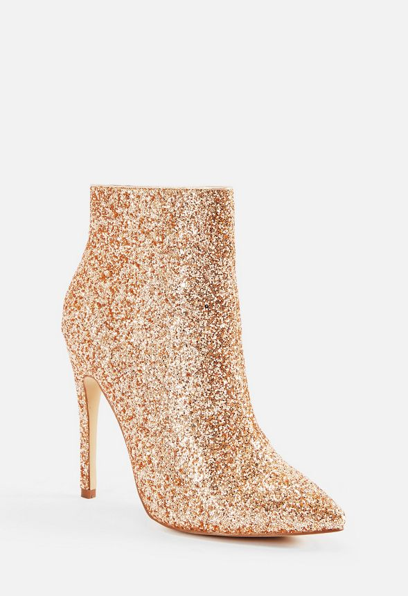 Maxime Stiletto Bootie in Rose Gold
