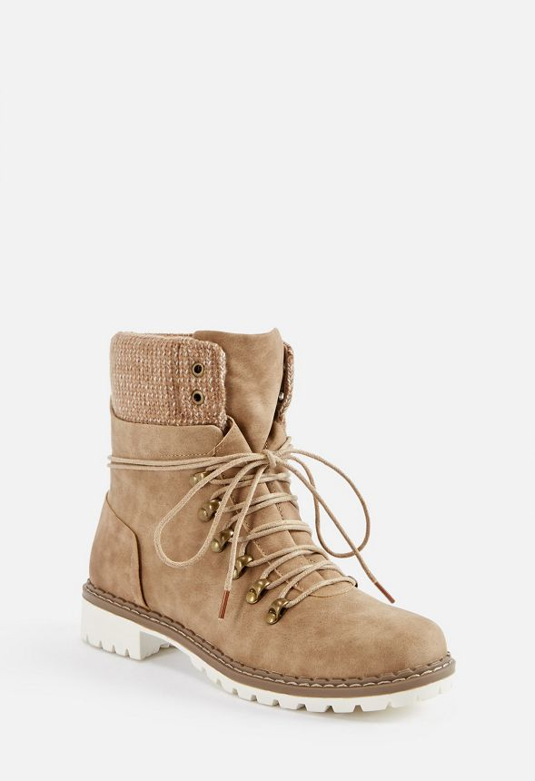 240b4d036685 Kass Lace-Up Rugged Boot in Taupe - Get great deals at JustFab