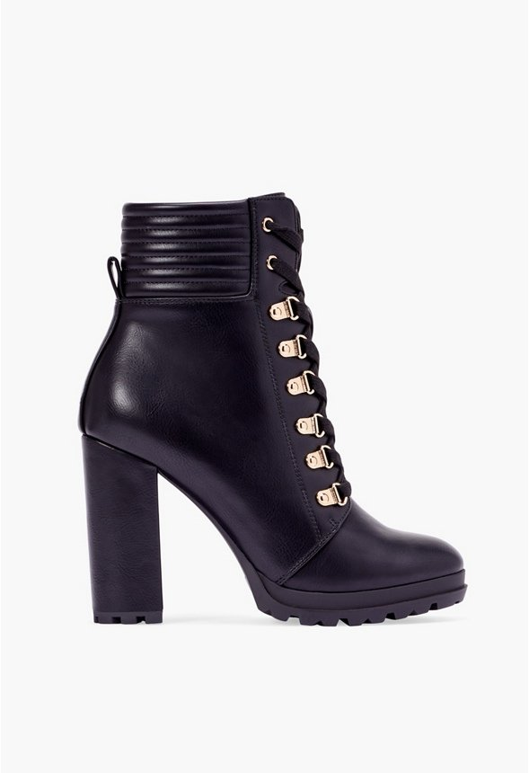Shandee Lace-Up Bootie in Black Onyx