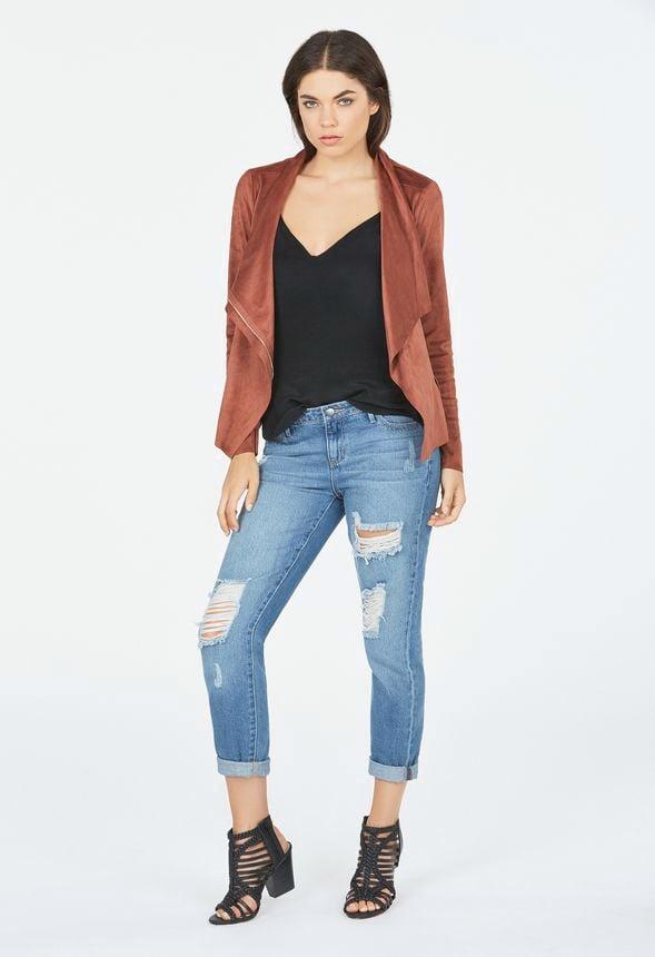 jackets blank light grey coat suede nyc moto drapes products drape draped faux jacket springlooks