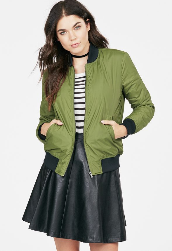 0b625c34f Bomber Jacket in Cypress - Get great deals at JustFab