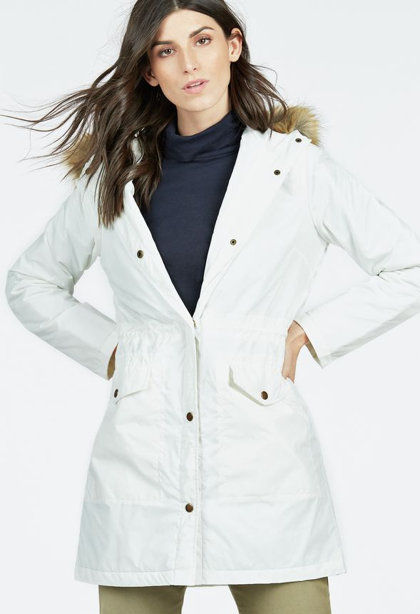 Puffer Parka in WINTER WHITE - Get great deals at JustFab