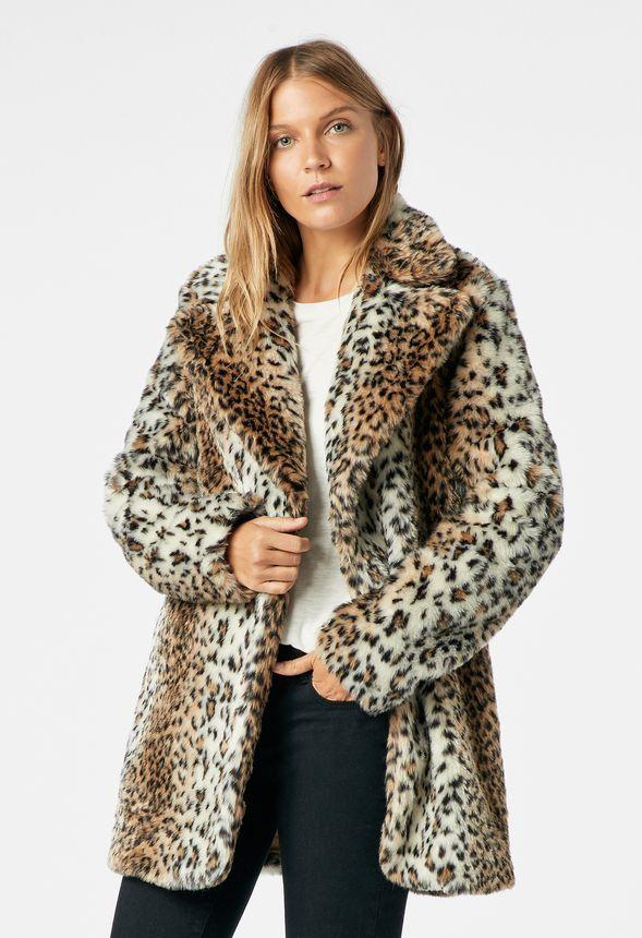 448c731f2521 Leopard Faux Fur Coat in Leopard - Get great deals at JustFab