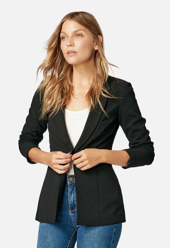 03104813c1a Single Breasted Blazer in Black - Get great deals at JustFab