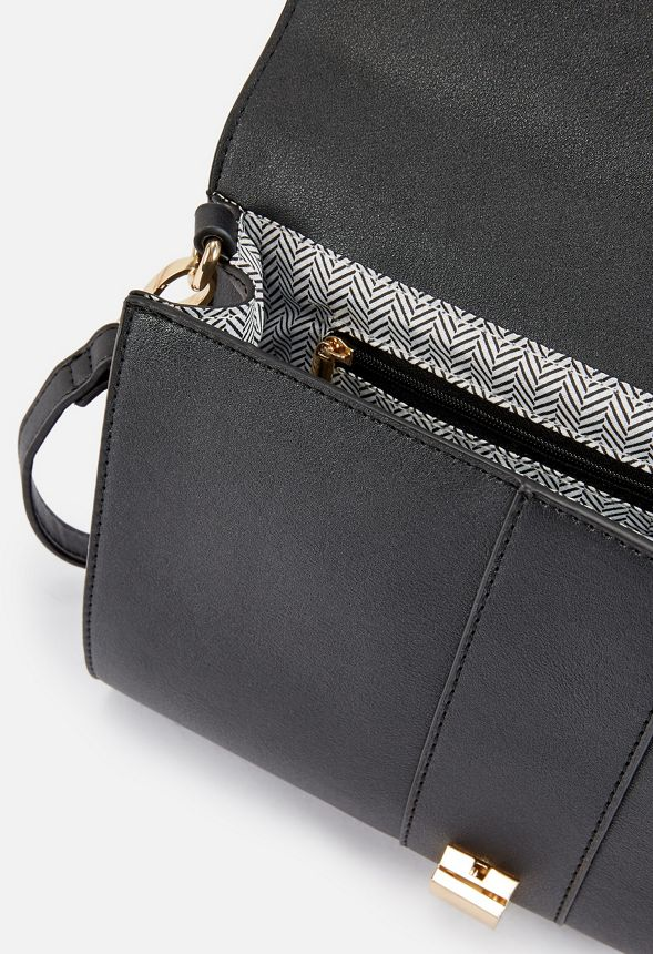 2bfc982d62 Chain Reaction Crossbody Bag in Black - Get great deals at JustFab