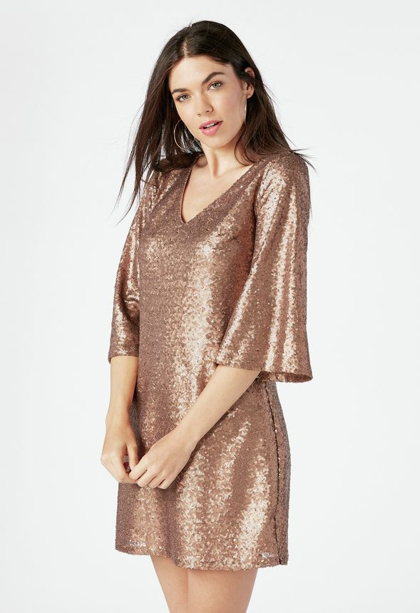 ce0c117a1478 Sequin Dress in Bronze - Get great deals at JustFab