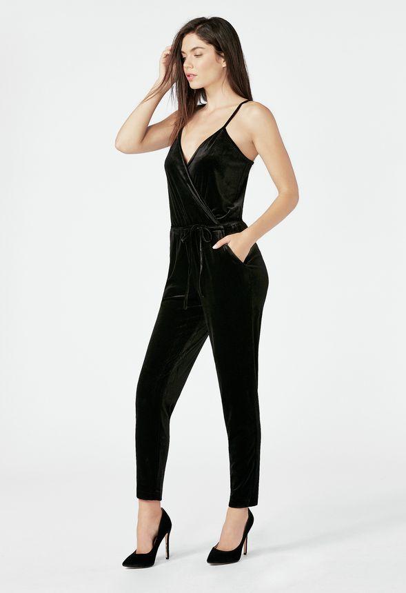 cf54909731c Velvet Jumpsuit in Black - Get great deals at JustFab