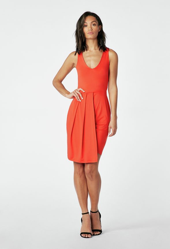 9eb9b63940d Layered Tank Dress in flame scarlet - Get great deals at JustFab
