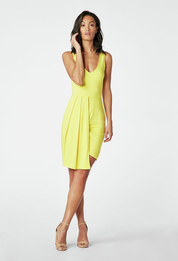 6f57ac0f409 Layered Tank Dress in EMPIRE YELLOW - Get great deals at JustFab