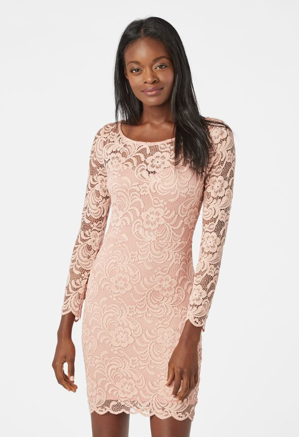 6607c549708 Lace Bodycon Dress in Mauve - Get great deals at JustFab