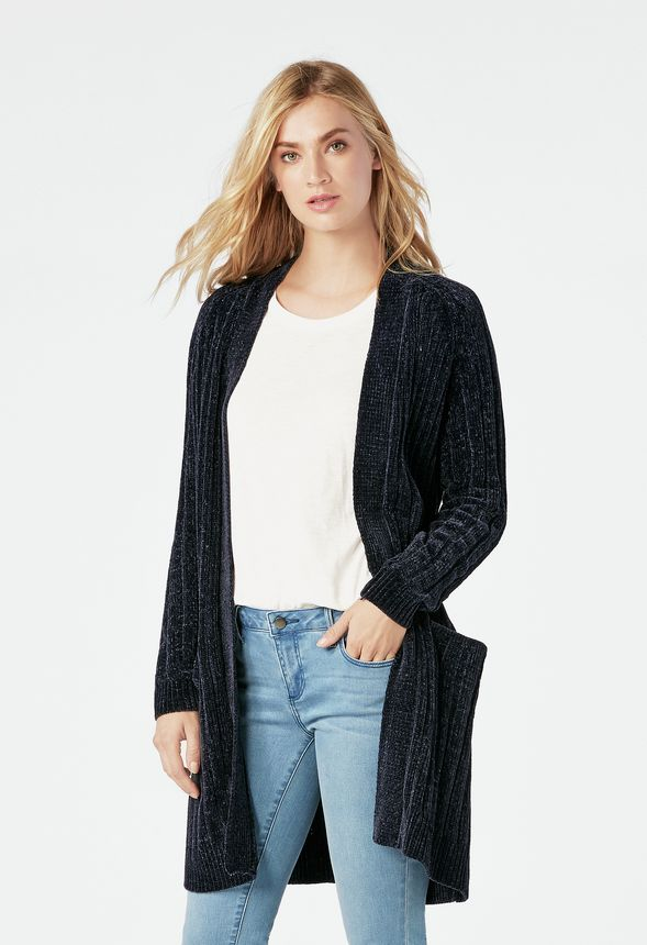 fa648aa3aa Cozy Luxe Cardigan in MIDNIGHT - Get great deals at JustFab