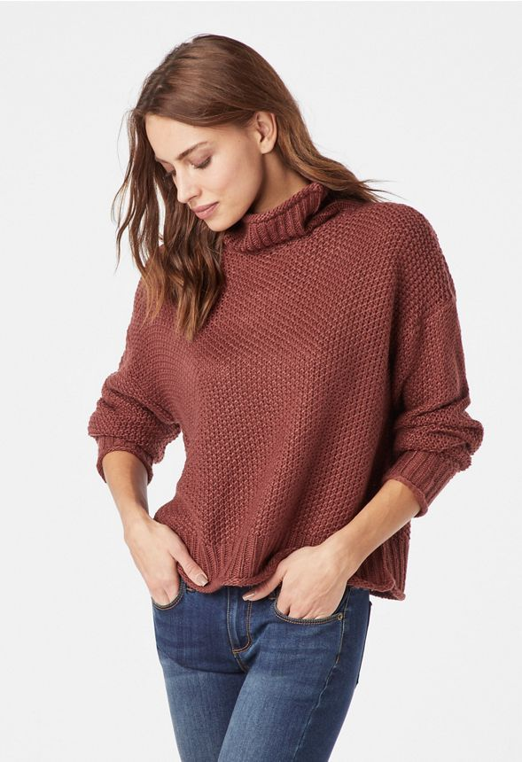 4acbaccda08 Cozy Turtle Neck Sweater in Brandy - Get great deals at JustFab