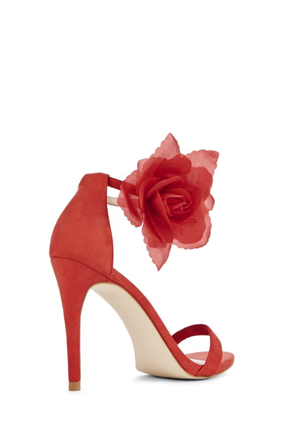 """JustFab /""""Kyla/""""  with a removable flower on the strap single-sole stiletto"""