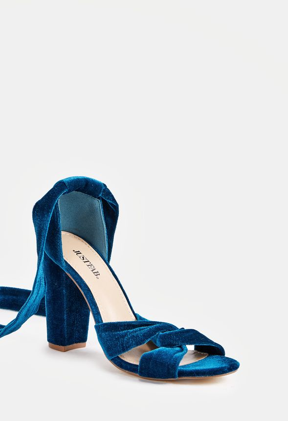 28b9e4df1c3 Acacia Heeled Sandal in Teal - Get great deals at JustFab