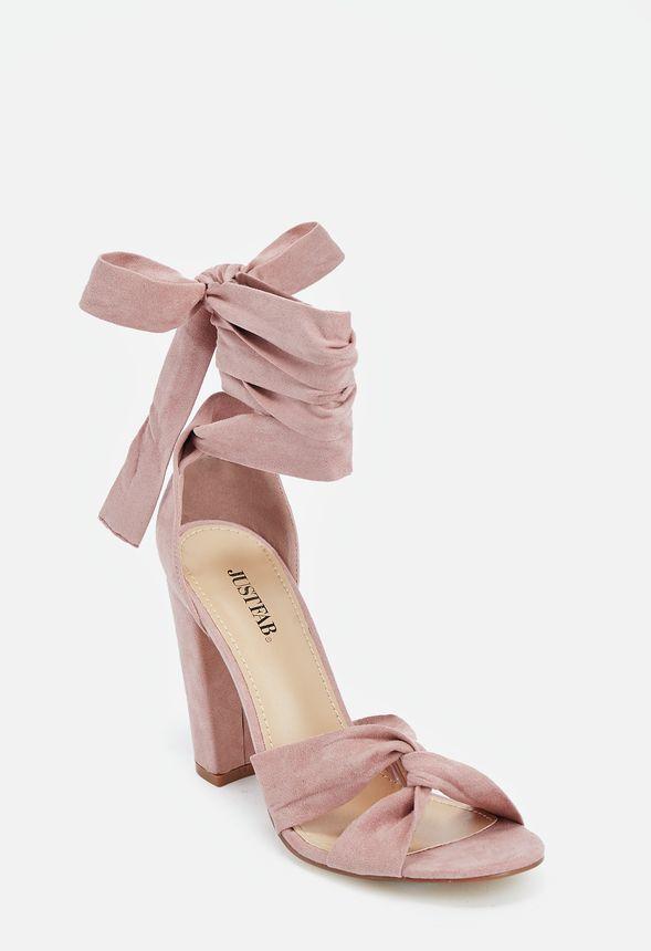 c0183f158db Acacia Heeled Sandal in Blush - Get great deals at JustFab