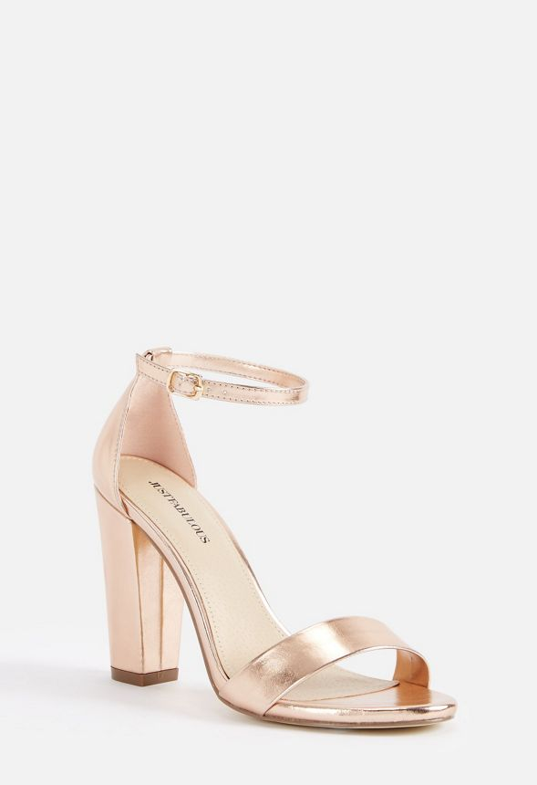 4d30a4612503 Makemba Block Heeled Sandal in Rose Gold - Get great deals at JustFab