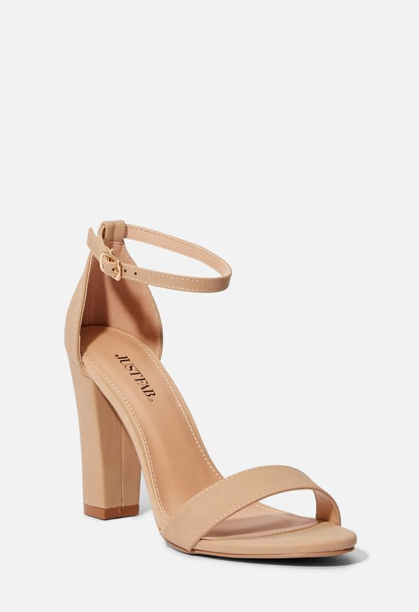 a158f11cadb Makemba Block Heeled Sandal in Nude - Get great deals at JustFab
