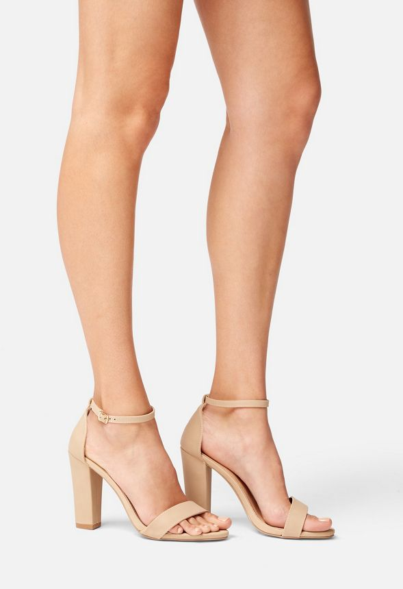 da75b5c372 Makemba Block Heeled Sandal in Nude - Get great deals at JustFab