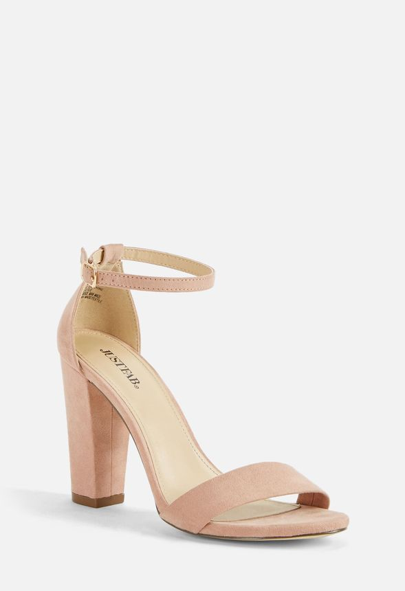8def486c8db Makemba Block Heeled Sandal in Blush - Get great deals at JustFab